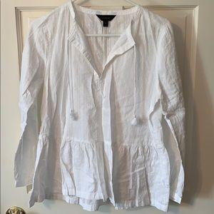 Jcrew white peplum blouse